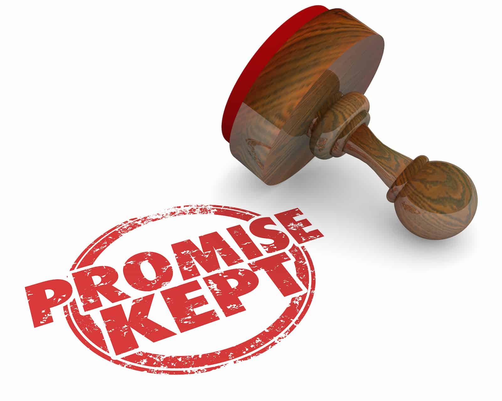 Promise Kept Stamp